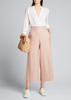 Kiton Wool-Silk Pull-On Culottes