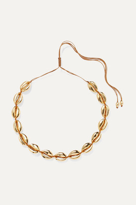 Tohum Large Puka Gold-plated Necklace - one size