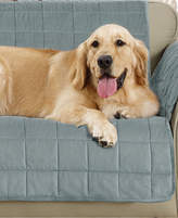 Sure Fit Velvet Deluxe Pet Loveseat Slipcover with Sanitize Odor Release Bedding