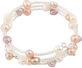 Bella Pearl Pearl Triple-Row Coil Bracelet