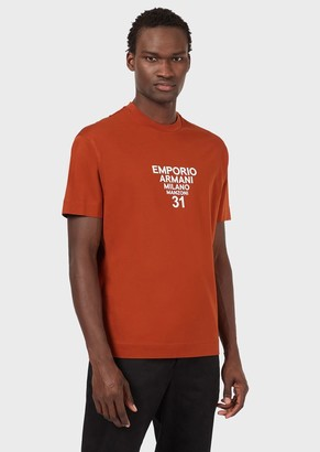 Emporio Armani Worldwide Boutiques Mercerised-Jersey T-Shirt