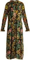 Preen by Thornton Bregazzi Lucinda floral-print hammered-silk dress