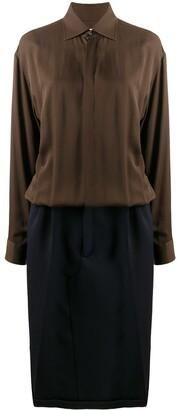Maison Margiela Two-Tone Shirt Dress