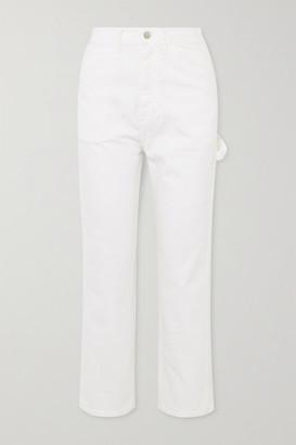 Denimist Chapel Carpenter High-rise Slim-fit Jeans - White