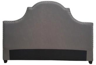 One Allium Way Etienne Modern Upholstered Panel Headboard Size: Queen, Upholstery: Dark Grey