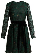 Valentino Animal Eye And Print-embroidered Tulle Dress - Womens - Green Print