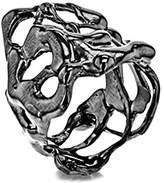 Annelise Michelson Women's Gun Metal Plated Short Drop Ring - Size T