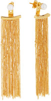 Vita Fede Gold-Dipped Pearl Fringe Drop Earrings