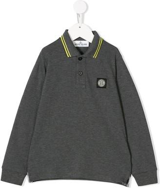 Stone Island Junior Long Sleeve Polo Shirt