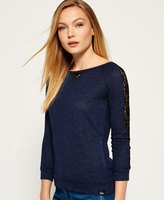 Superdry Slubby Twist Jersey Lace Top
