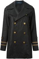 Polo Ralph Lauren double-breasted jacket - women - Linen/Flax - 6