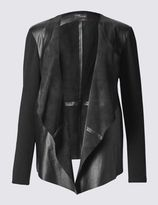Marks and Spencer Leather Waterfall Jacket