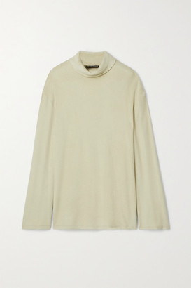 Kwaidan Editions Brushed Knitted Turtleneck Sweater - Beige