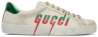 Gucci White Blade New Ace Sneakers