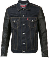 Junya Watanabe Comme Des Garçons - denim jacket - men - Cotton/Artificial Leather - S