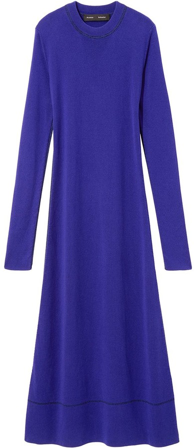 Proenza Schouler long-sleeved crew-neck dress