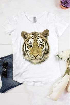 Color Bear Tiger Face Foil Tee