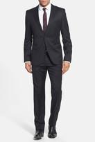 HUGO BOSS Aeron Hamen Super Black Extra Trim Fit Wool Suit
