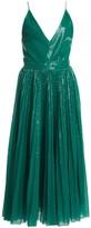 MSGM Pleated Sequin Midi Flare Dress