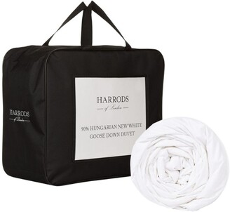 Harrods Super King 90% Hungarian New White Goose Down Duvet (13.5 Tog)