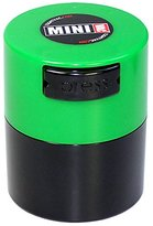 Minivac - 10g to 30 grams Airtight Multi-Use Vacuum Seal Portable Storage Container for Dry Goods, Food, and Herbs - Green Cap & Black Body