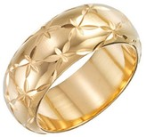 14kt Gold Diamond Cut Ring with Nano Diamond Resin-Yellow Gold