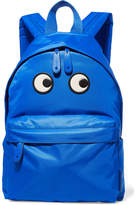 Anya Hindmarch Eyes Textured Leather-trimmed Shell Backpack - Bright blue