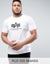 Alpha Industries PLUS Logo T-Shirt Regular Fit in White