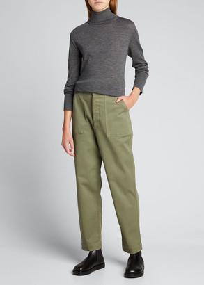 Officine Generale Saskia Garment-Dyed Chino Pants