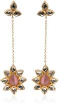 Opuline Lolita Rose Quartz Earrings