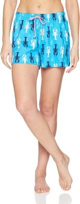 Little Blue House by Hatley Women's Sea Creatures Pajama Boxer Shorts