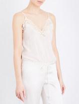 La Perla Petit macramé stretch-silk-georgette bodysuit