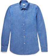 Incotex Kurt Slim-fit Cotton-chambray Shirt - Blue