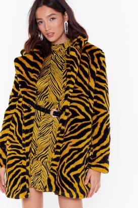 Nasty Gal Wild Love of Ours Tiger Faux Fur Coat