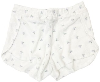 Merritt Charles Grace Shorts | Lilac Flower | Embroidered Terry Cloth