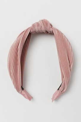 H&M Hairband with Knot Detail - Pink
