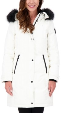 Vince Camuto Petite Faux-Fur-Trim Hooded Parka, Created for Macy's