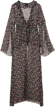 Anna Sui Lilies Of The Valley Printed Silk-chiffon Robe