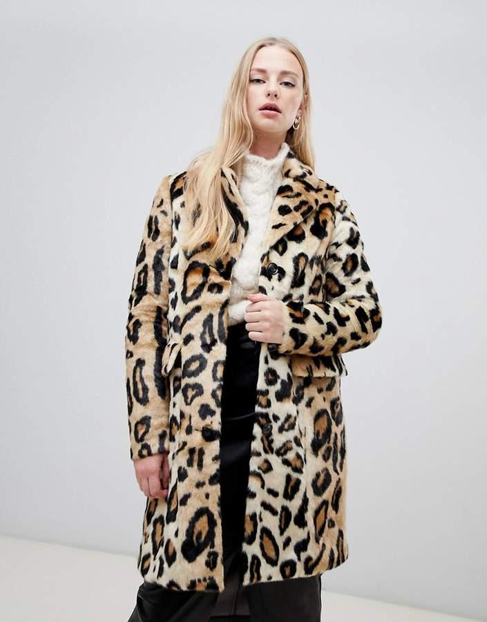 6c72bcae9ea2 Leopard Faux Fur Coat - ShopStyle