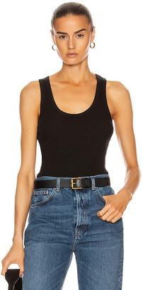 John Elliott Rib Tank Top in Black | FWRD