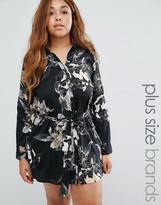 AX Paris Plus Shirt Dress In Floral Print