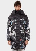 Versace Versus collage Long Down Jacket