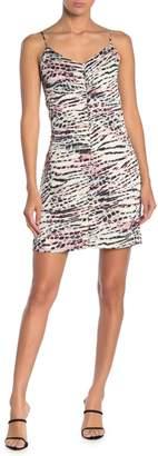 Naked Zebra Animal Print Satin Mini Dress