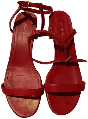 Mansur Gavriel Red Leather Sandals