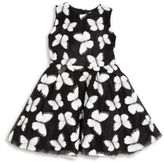 Halabaloo Toddler's & Little Girl's Butterfly Fit-&-Flare Dress