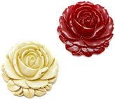 Hotcakes Design Large rose brooch