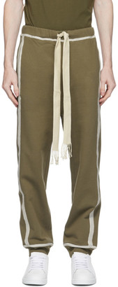 Loewe Khaki and Off-White Anagram Lounge Pants