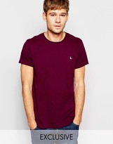 Jack Wills T-Shirt With Pheasant Logo In Purple Exclusive