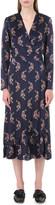 Sandro Kravitz leopard-print silk dress