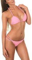 TopTie Bikini - Push Up Triangle Top and Strappy Botto